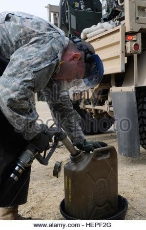Pfc. Joshua Smith, a petroleum supply specialist assigned to Alpha ...