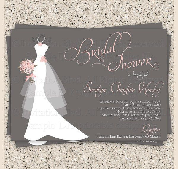 Free Bridal Shower Invitation Templates - marialonghi.Com