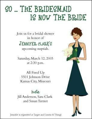 Sample Bridal Shower Invitation Wording - vertabox.Com