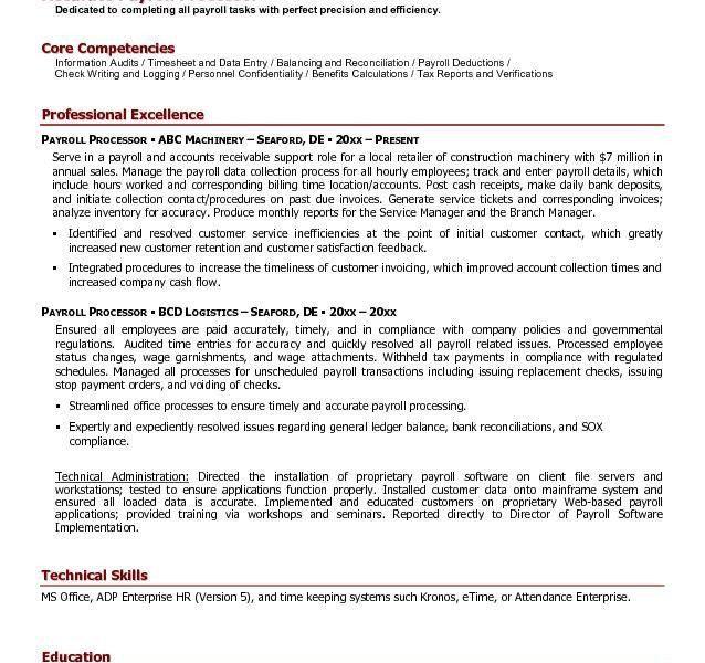 Amazing Payroll Resume 15 Free Payroll Processor Resume Example ...