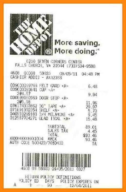 10+ Home Depot Receipt | Reporter Resume in 10+ Home Depot Receipt ...