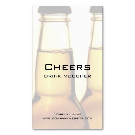 Beer Restaurant or Brewery Drink Voucher Cards Business Card ...