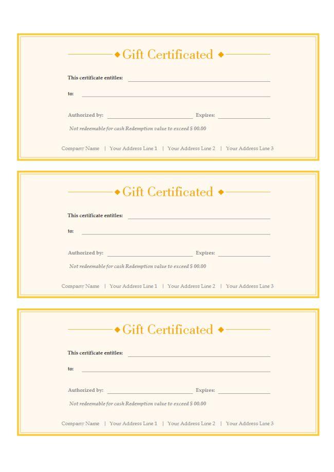 Gift Voucher | Free Gift Voucher Templates