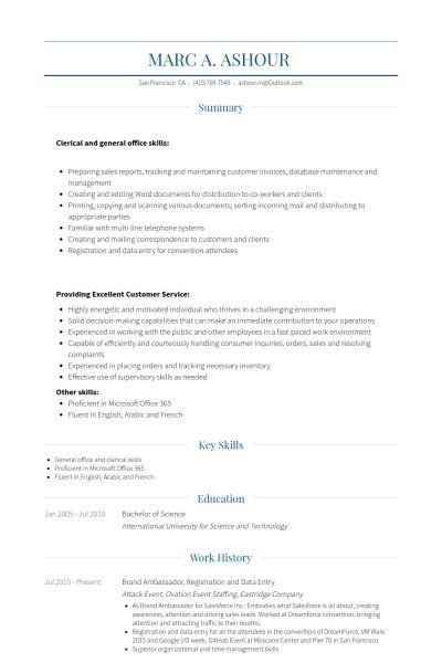 Assistant Manager Resume samples - VisualCV resume samples database