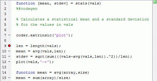 Debugging a MATLAB Function Block - MATLAB & Simulink