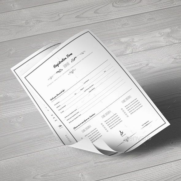 Registration Form Template by Keboto | GraphicRiver