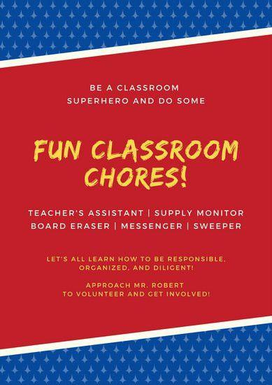 Classroom Poster Templates - Canva