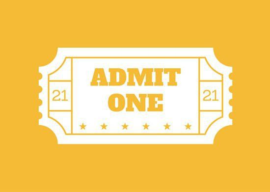 Vintage Movie Ticket Invitation Card - Templates by Canva