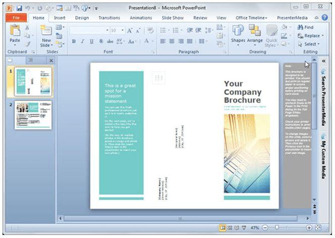 Designing Brochures in PowerPoint 2013 - SmileTemplates.com