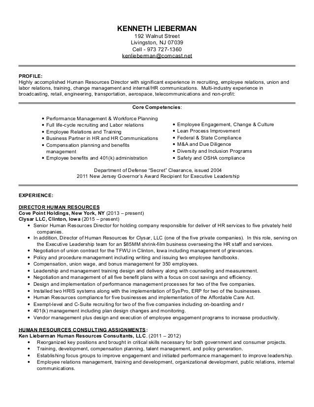 human resources executive resume hr director resume sample sample ...