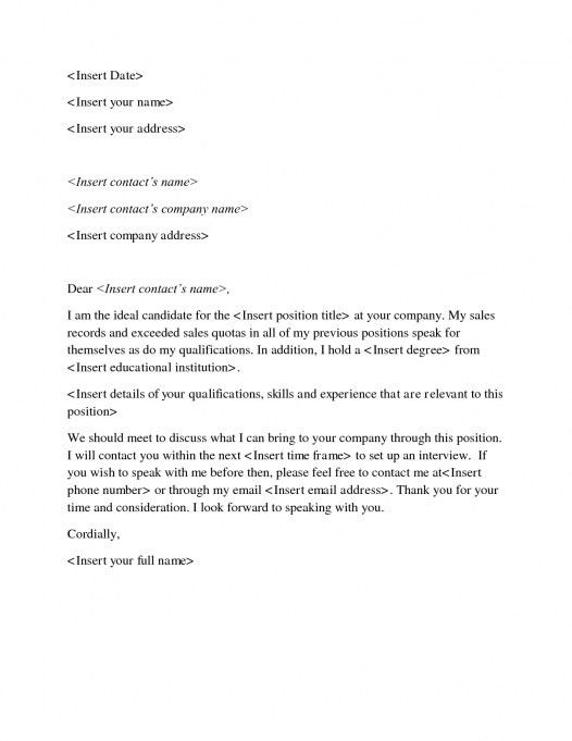 Sample Cover Letter Examples For Sale 14 Download Free Sales ...