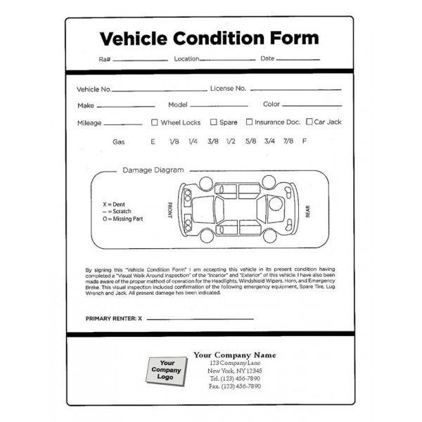 Auto Inspection Forms - Inspection Forms - Standard Forms