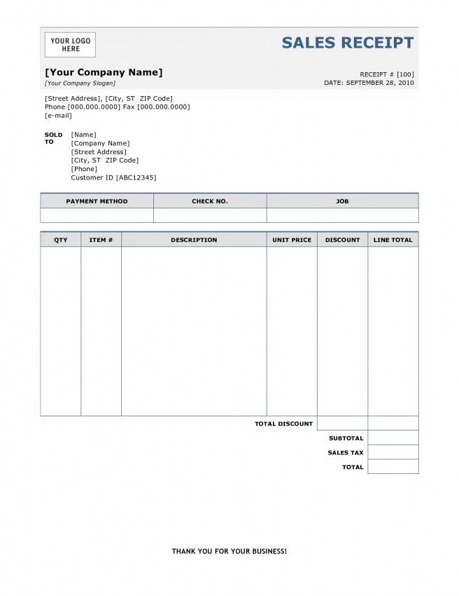 Invoice Receipt Template. Medical Invoice Receipt Template Doc ...