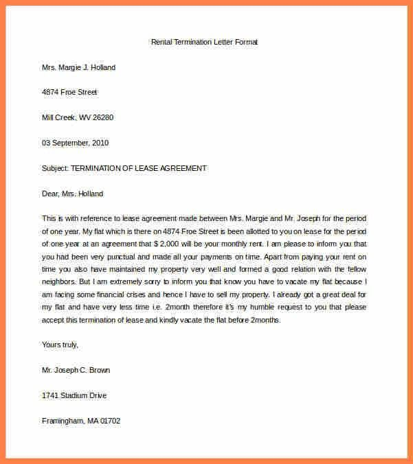 4+ sample termination of lease agreement letter | Purchase ...
