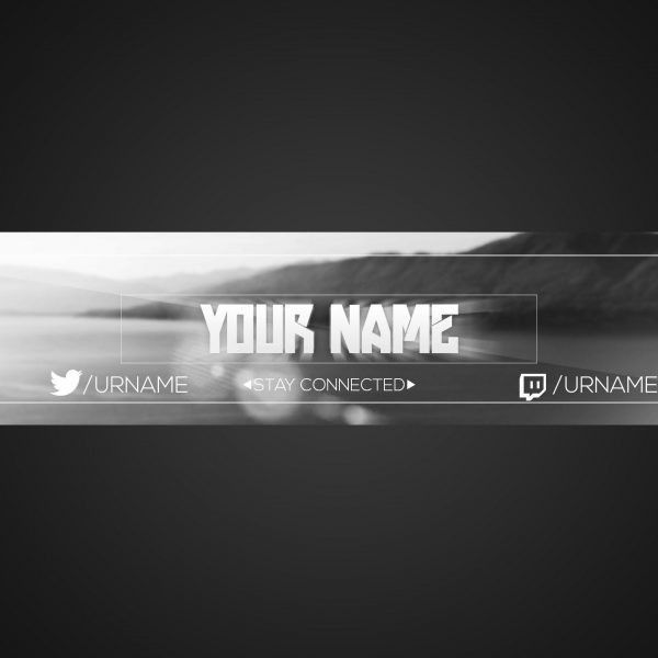 Youtube Banner Template | Photoshop Cs6 | Free Download | Black ...
