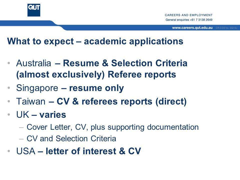 Effective Applications Resumes and Selection Criteria - ppt download