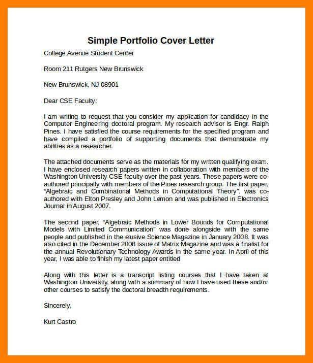 7+ portfolio letter | protect letters