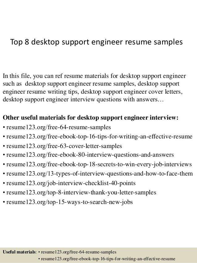 Desktop Support Resume Format - Huanyii.com