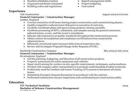Contractor Consultant Resume Independent Contractor Consultant ...