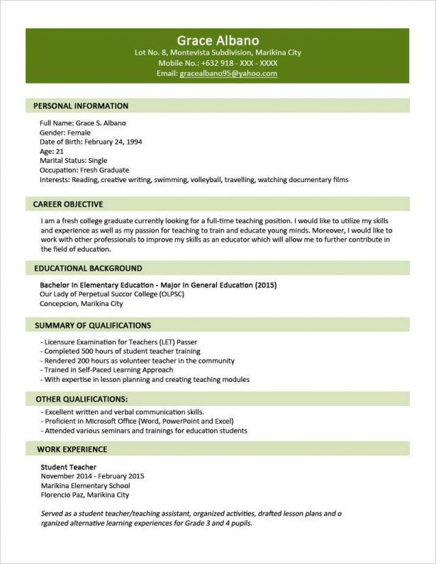 Curriculum Vitae : Build A Free Resume Online Bench Craft Company ...