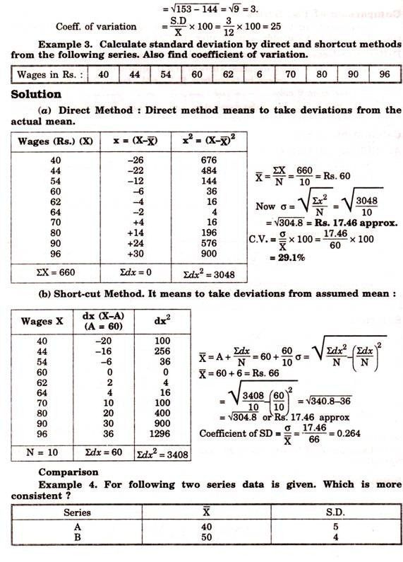 How to Calculate Standard Deviation in 3 different Series ...