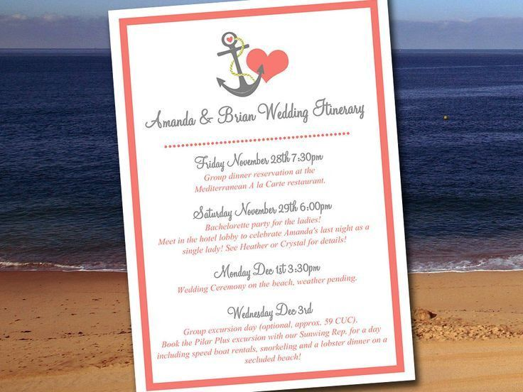 The 25+ best Wedding itinerary template ideas on Pinterest ...