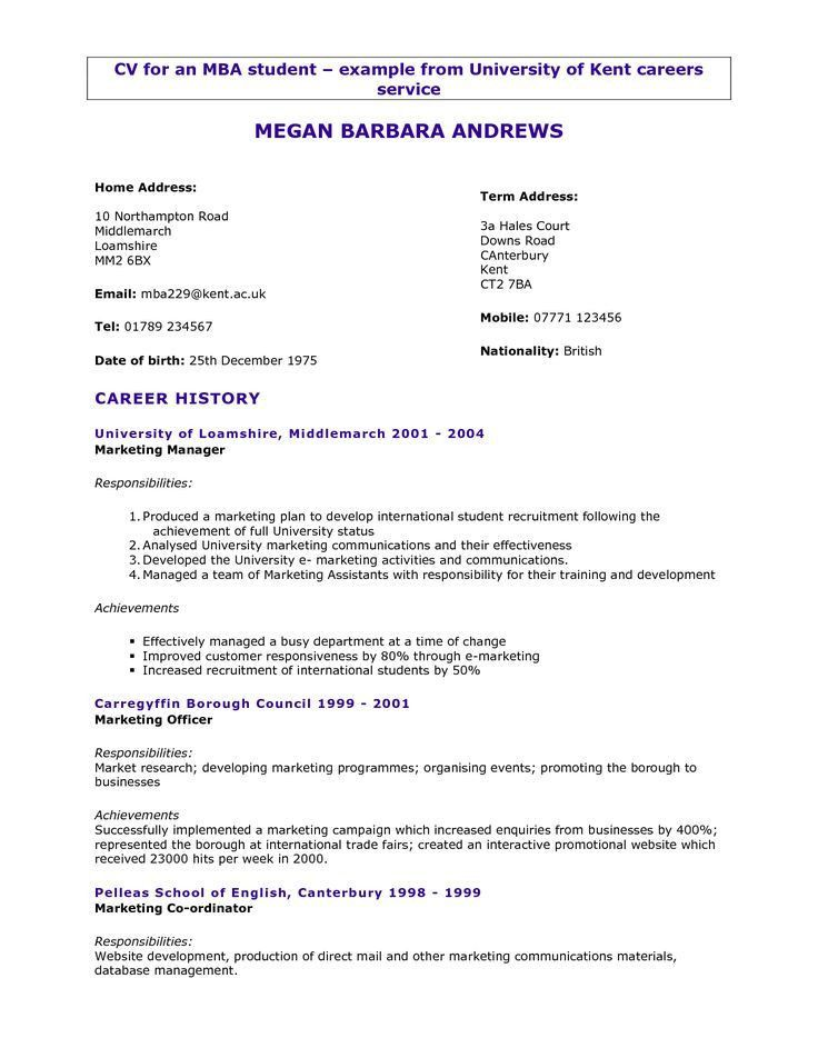 Activities Resume Template. How To Write A Job Resume For A ...