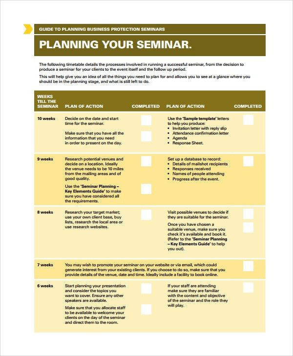 Sample Seminar Planning Templates - 7+ Free Documents Download in ...