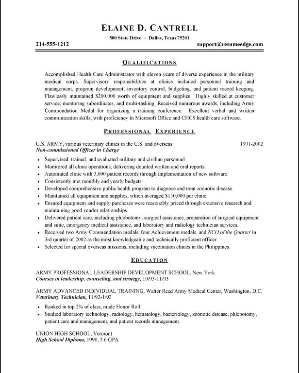Army Resume Builder - Resume CV Cover Letter