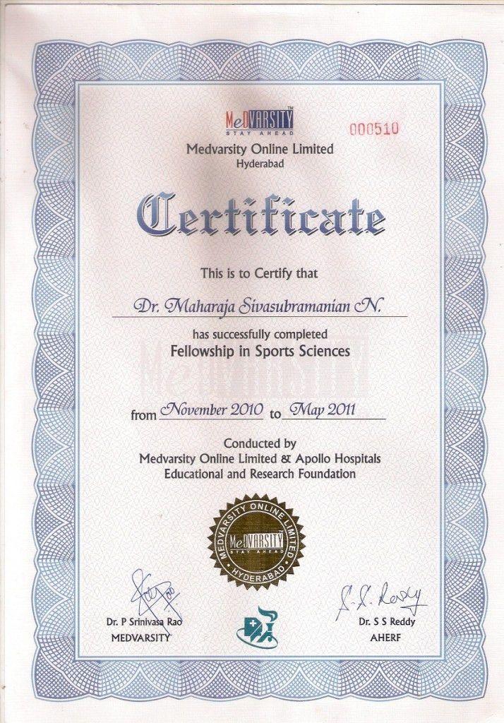 Dr Maharaja SivaSubramanian N Certificate of Degree of Bachelor of ...