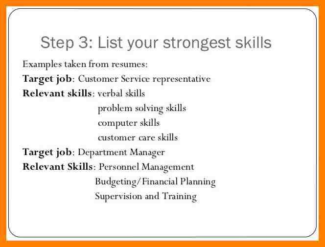 Skills To Put On A Resume For Customer Service ...