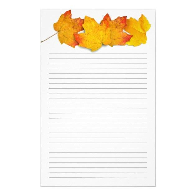 Fall Maple Leaf Border, Lined Writing Paper | Zazzle.com