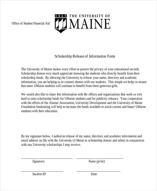 Sample Release of Information Form - 12+ Free Documents in PDF