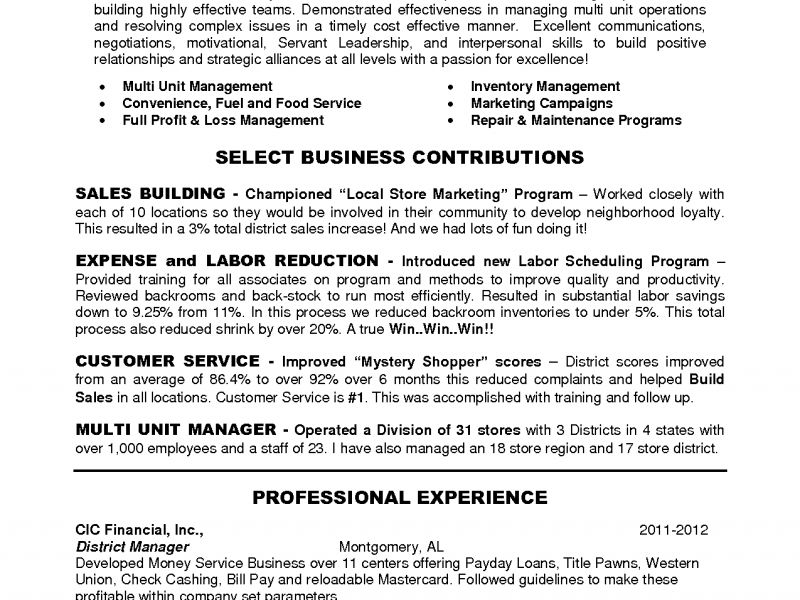 Download District Manager Resume | haadyaooverbayresort.com