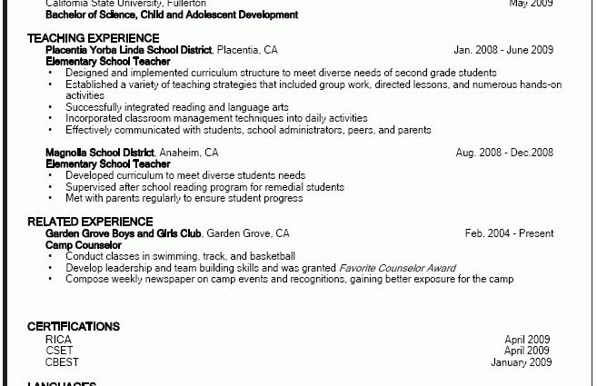 education resume sample by john walters - Writing Resume Sample ...