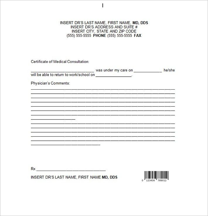 8+ Doctor Note Templates - Free Sample, Example Download ...