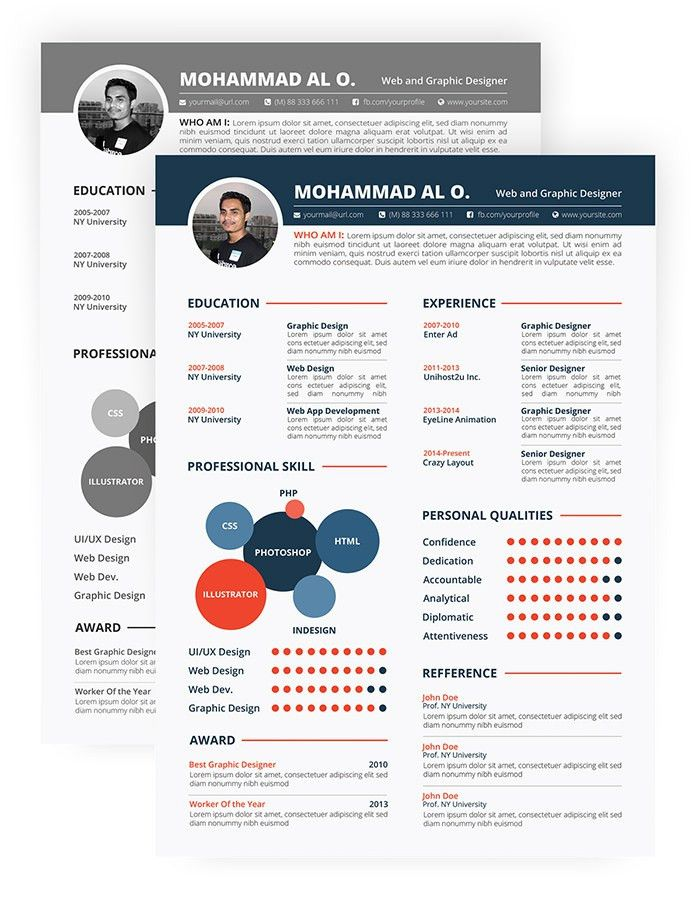 Templates For Resume. 30 Free & Beautiful Resume Templates To ...