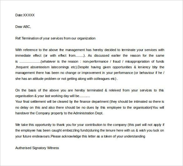 Job Termination Letter – 10+ Free Word, PDF Documents Download ...