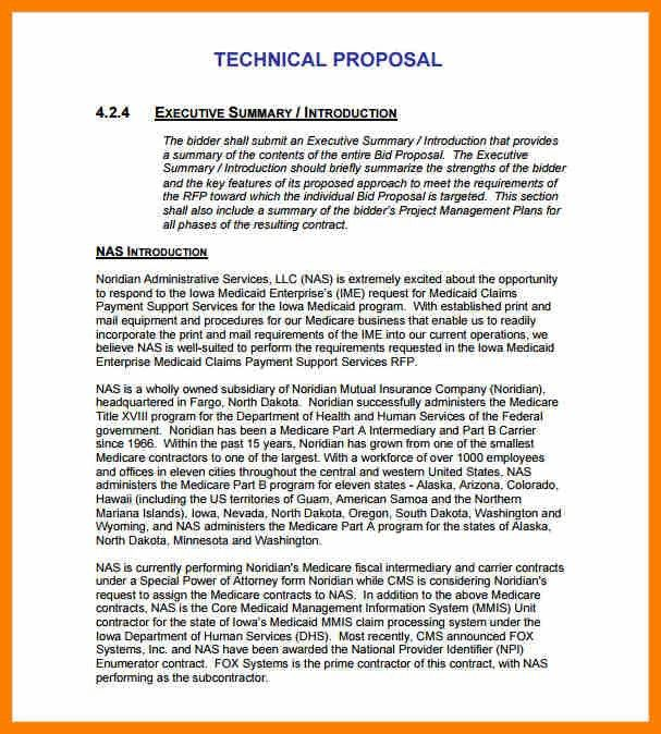 6+ technical proposal template | science-resume
