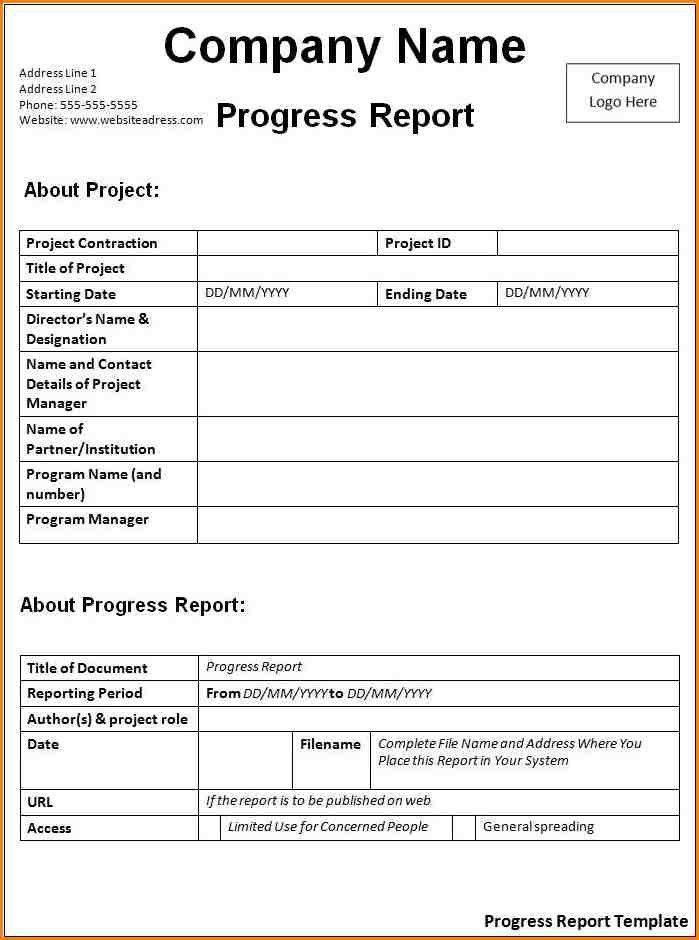 7+ progress report sample | writable calendar