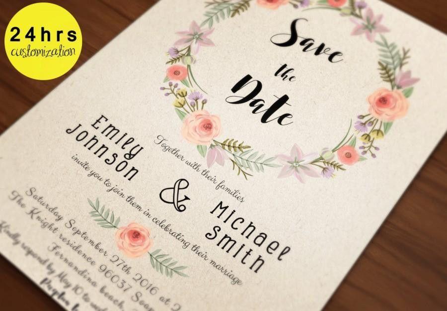 Save The Date Template - Save The Date Printable - Printable Save ...