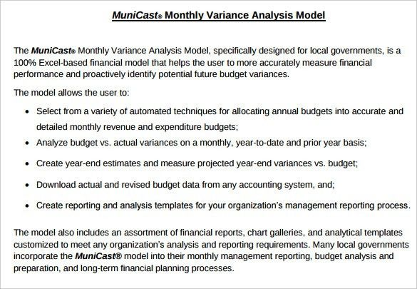 Budget Analysis Template – 6+ Free Word, Excel, PDF Format ...