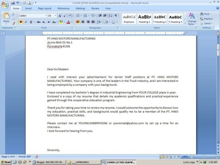 Email Cover Letter Format. Cover Letter Email Sample Template ...