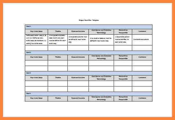 9+ excel template for work plan | Bussines Proposal 2017