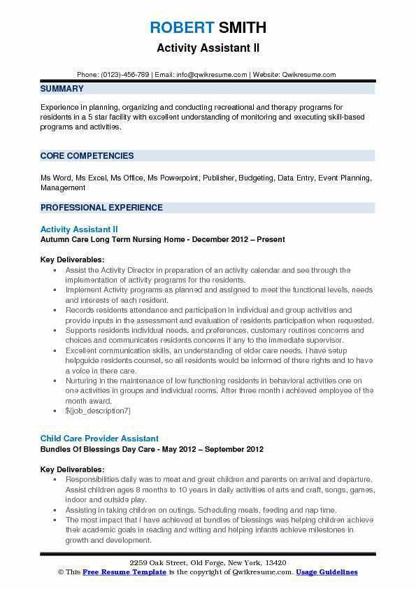 Assistant Resume Samples, Examples and Tips