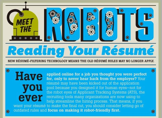 Meet the Robots Reading Your Résumé [Infographic] - HireRight Blog