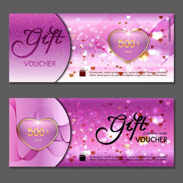Gift voucher luxury vouchers template vector 08 - Vector Banner ...
