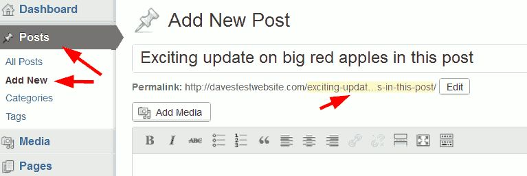 Changing item URL (in user account)