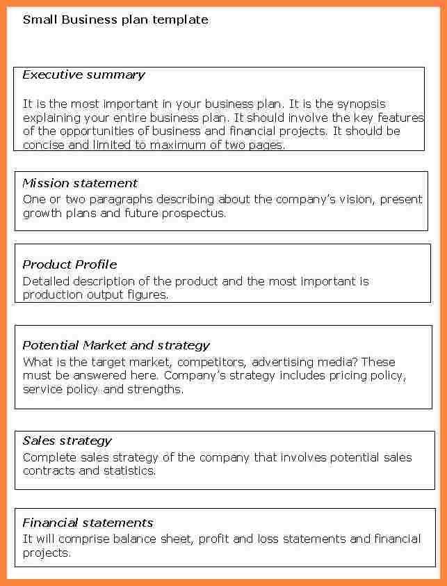 9+ example of a small business plan | Bussines Proposal 2017