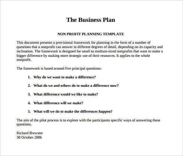 Business Plan Template Pdf – bikeboulevardstucson.com